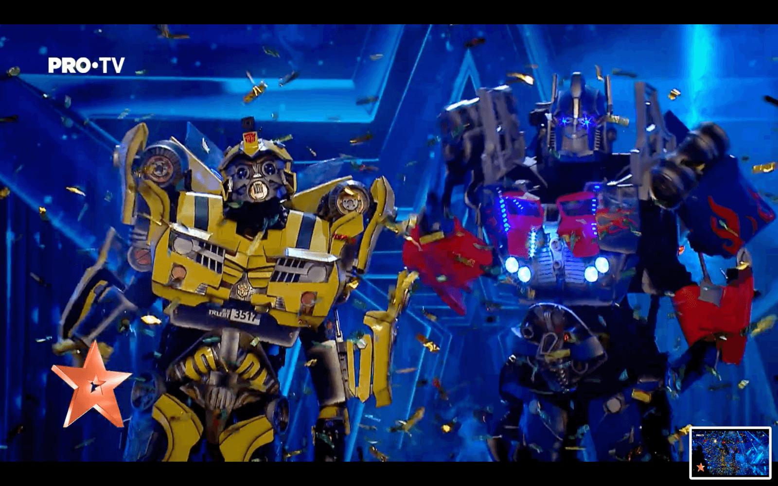 BumbleBee si Optimus Prime la Romanii Au Talent - Royal Entertainment